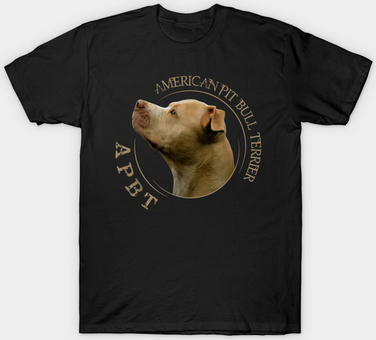 Red nose american pit bull terrier tshirt